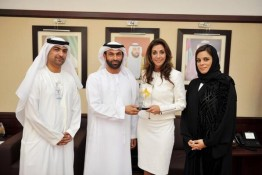 Renee-Marie Stephano with His Excellency Essa Al Haj Al Maidoor General Director of the Dubai Health Authority