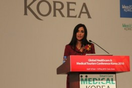 Renee-Marie Stephano Presenting at the Global Healthcare & Medical Tourism Conference, in Seoul, Korea