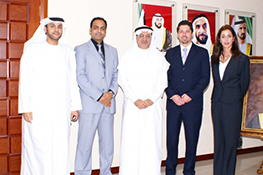 Ms. Stephano with the Minister of Health of the UAE