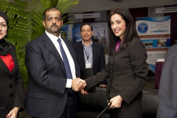 Renee-Marie Stephano at the MOU Signing with the Dubai Health Authority
