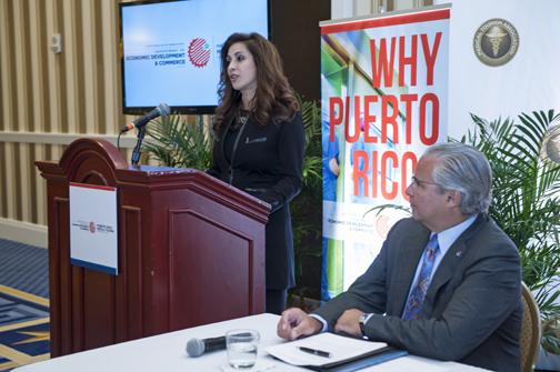 Renee-Marie Stephano Presenting on Medical Tourism to the Puerto Rican Government