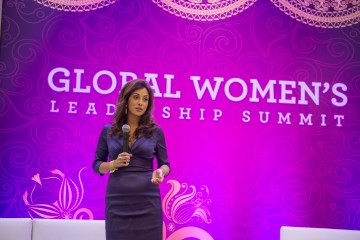 Renee-Marie Stephano Presenting at the Global Women's Leadership Summit